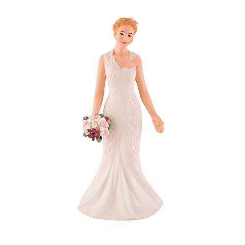 Weddingstar Woodland Bride Porcelain Figuring Wedding Cake Topper, Wh