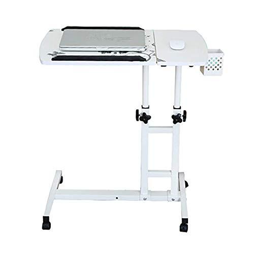 Kuingbhn Escritorio de ordenador escritorio de altura ajustable cama plegable de elevación giratoria escritorio para escribir trabajo estudio escritorio
