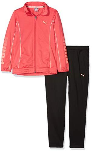 PUMA Mädchen Tricot Graphic Suit Trainingsanzug, Paradise pink Black, 176