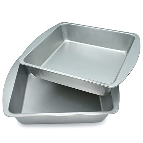 20cm Square Cake Tin for Cakes, Baking and Cooking, 20cm Cake Tins Square Cakes, Strong Cake Tin...