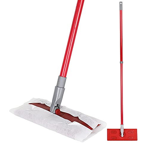 Extendable Dry Wipe Mop with Telescopic Handle, Sweeping for Hardwood,...