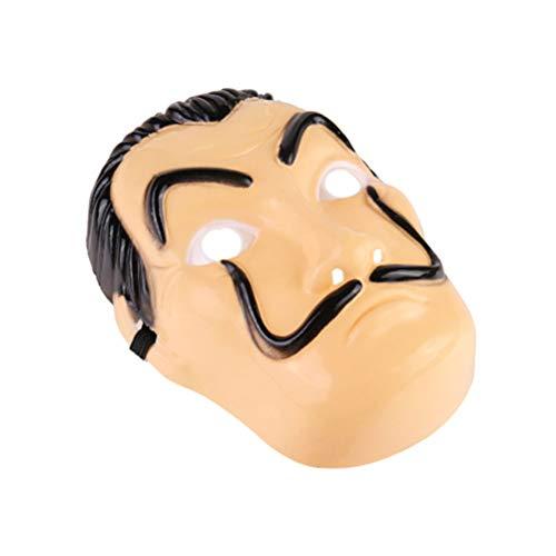 Schimer Masker, Salvador Dali masker latex masker La CASA volgelaatsmasker - kunststof - carnaval, Halloween