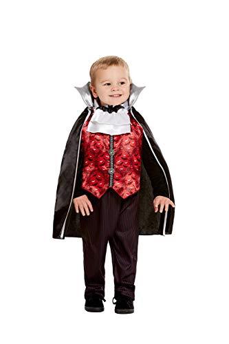 Smiffys 50798T2 - Disfraz de vampiro para niños (3-4 años), color rojo