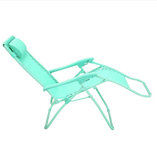 Zero Gravity Metal Sun Lounger - Teal: Premium Heavy Duty 2020 Model (Reclining Outdoor Garden Deck, Beach Chair)