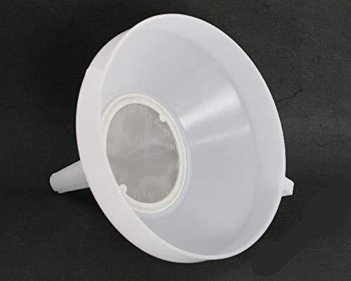lilawelt24 25 cm Kunststoff-Trichter mit Sieb Einfülltrichter Fülltrichter, Abfülltrichter lebensmittelecht Weinballon