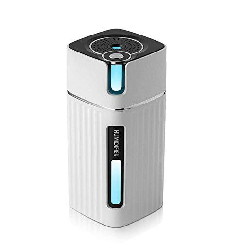YNHNI Humidificador de Aire portátil 300ML Ventaja del Coche del USB del Aroma del Aceite Esencial del difusor del Color LED de la lámpara Humidificador, (Color : White)