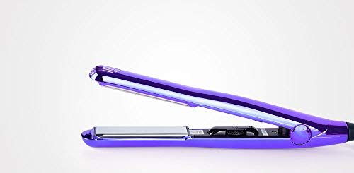 Perfect Beauty Plancha de pelo TITANIUM MIRROR profesional de titanio - Avanzada tecnologia - Control temp. 230 ºC máx. - Especial keratina, color violeta
