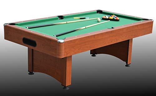 Tavolo da Biliardo trasformabile in Tavolo da Pranzo e Ping Pong - Marte (con Piano) - Carambola - (215 cm x 119 cm x 80 cm) - Completo di Tutti Gli Accessori