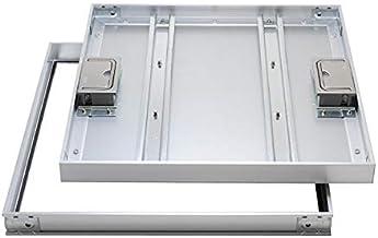 【ナカ工業】床点検口 〜標準モデル〜 NHEⅡAGS アルミ目地ー磁気タイル仕上用ー回転取手 (450×450)