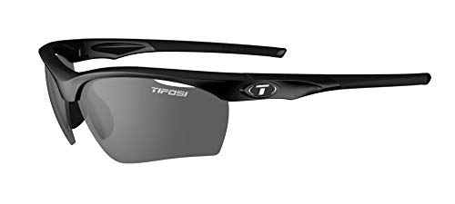 Tifosi Unisex-Sonnenbrille Vero, austauschbare Gläser, glänzend, Schwarz, Einheitsgröße