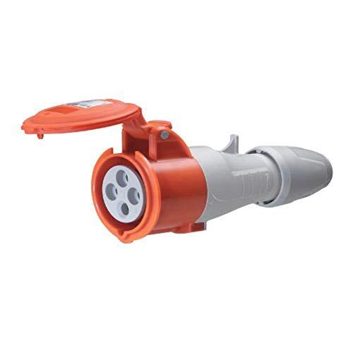 Base aérea con apriete del cable y cierre sin herramientas color rojo 380/415V 3P+T 16 A (Legrand 555108)
