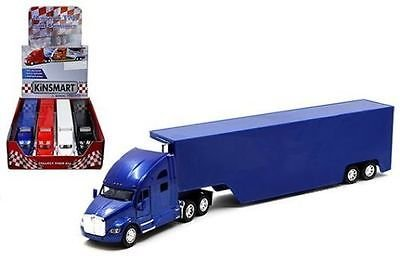 KiNSMART KT1302D Box of 4 Diecast Model Cars - Kenworth T700 Container Truck (NO Decal)