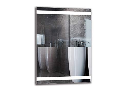 Espejo LED Premium - Dimensiones del Espejo 50x70 cm - Espejo de baño con iluminación LED - Espejo de Pared - Espejo de luz - Espejo con iluminación - ARTTOR M1ZP-27-50x70 - Blanco frío 6500K