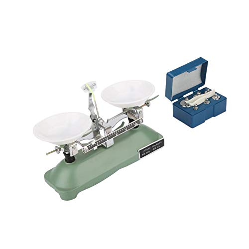 Tray Balance 200g, Lab Mechanical Balance Scale Easy to Operate and Carry Lab Mechanical Balance with 1 X Tweezers for Scholastic Physics for Laboratory