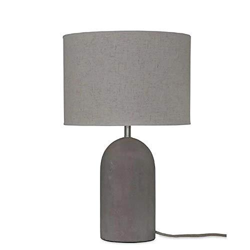 WHSS Lámpara de mesa nórdica moderna moderna moda salvaje sala de estar dormitorio tela lámpara de mesa simple retro estilo industrial creativo lámpara de mesa de cemento lámpara de mesa 30 x 50 cm