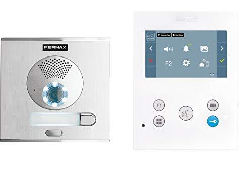 Fermax Kit Video City Veo-XS WiFi DUOX Plus 1L Portero, Blanco
