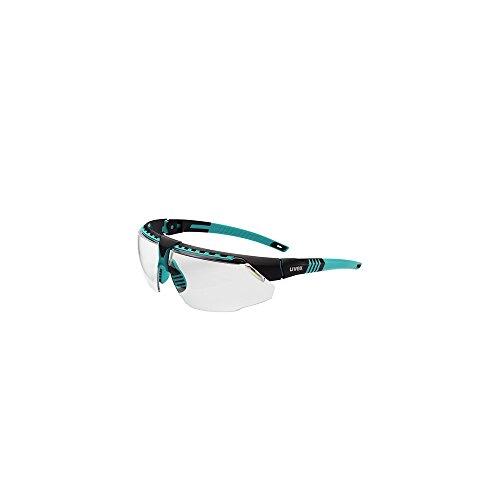 Uvex S2880HS Avatar Adjustable Safety Glasses with HydroShield Anti-Fog Coating, Standard, Teal/Black