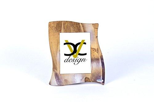 CVC- Cornice, portafoto in legno, dettaglio riflesso vetro. Dimensione 28x33 cm. Made in Italy