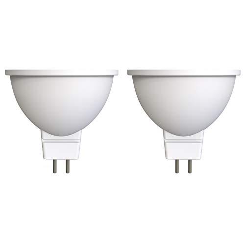 Umi by Amazon - Bombilla dicroica LED con casquillo GU5.3/MR16, 4,5 W (equivalente a 35 W), 15 000 horas, blanco cálido (2700 K) (paquete de 2)