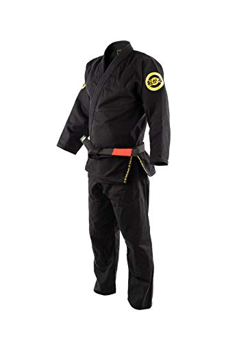 Role Bonito Kimono de Jiu-Jitsu Negro para Hombre (BJJ Gi) Talla A2