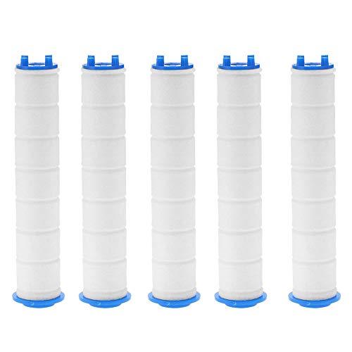 5本セット 浄水シャワーヘッド専用フィルター 消臭 抗菌 浄水機能 節水 残留物を取り除く 水フィルター 濾過 簡単に交換用