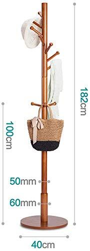 TZSMYSJ Perchero Paraguas Sombrero Soporte Perchero de Madera y Goma Base Tradicional de Suelo paragüero TZSMYSJ-A001 (Color : Chocolate Color)
