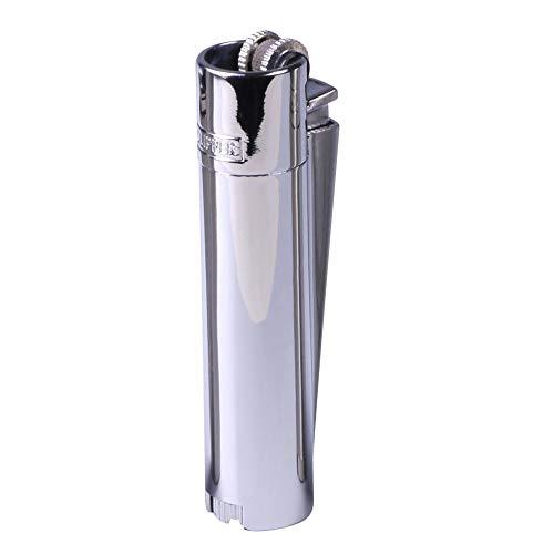 Clipper Metall Gas-Feuerzeug (Silber-Chrom) mit SOFORTGRAVUR +VORSCHAU: Gravur inklusive (Gasfeuerzeug nachfüllbar)