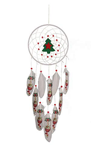 LHY SAVE 2 Pcs Christmas Dream Catcher,Handmade Dreamcatcher for Bedroom, Christmas Decoration, Wall Hanging Home Decor Festival Ornaments Gift(Length 22.8')
