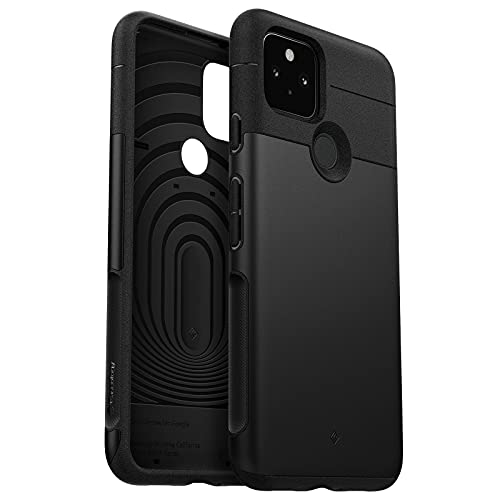 Caseology Leigion Back Cover Case Compatible with Google Pixel 5 - Stone Black