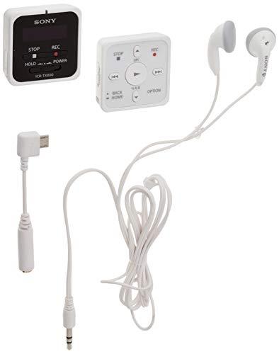 Sony TX800 Digital Voice Recorder with Remote (ICD-TX800/W), Black, Model:ICDTX800/W