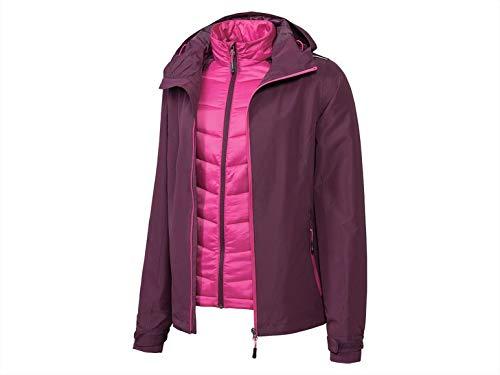 Dames functionele jas multifunctioneel jack Click in 2 in 1 jack dames ski-jack (maat 40) dames winterjas allweather jas klik in lichtgewicht vest