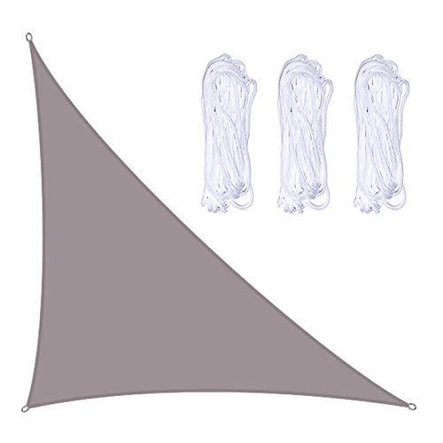 æ— Toldo triangular de 10 x 13 x 16,4 cm, toldo de vela con 3 cuerdas, resistente a los rayos UV, resistente a los rayos UV, toldo impermeable para patio al aire libre, jardín, patio trasero