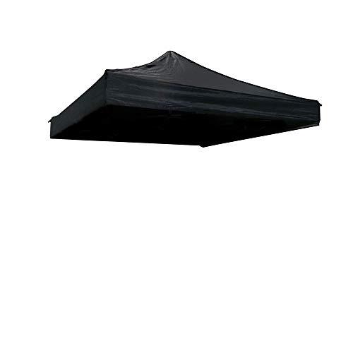 Toit de toile pour tente pliante noire 300x450cm - Cablematic