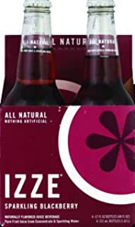 Izze Sparkling Juice Blackberry 4 pack 48.0 FO (Pack of 2)