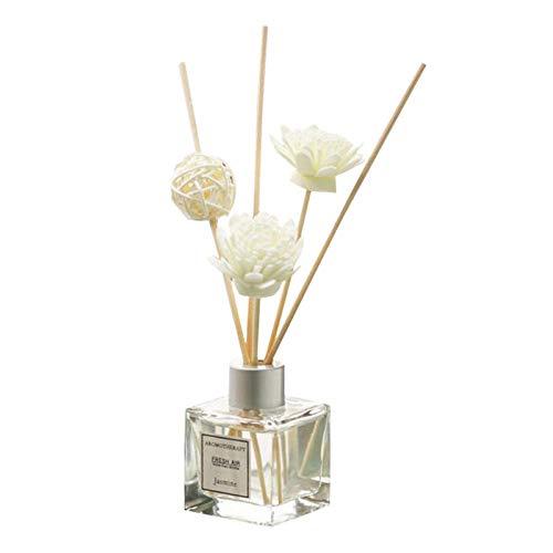 Ambientador para Hogar Aroma Diffuser Botella de Vidrio 210ml Flor de Lavanda Mente y Cuerpo Relajantes para Cuartos Hogares Oficinas Restaurantes
