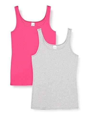 Schiesser Mädchen Multipack 2 Pack Tops Unterwäsche, Mehrfarbig (Sortiert 1), 164 (2er Pack)