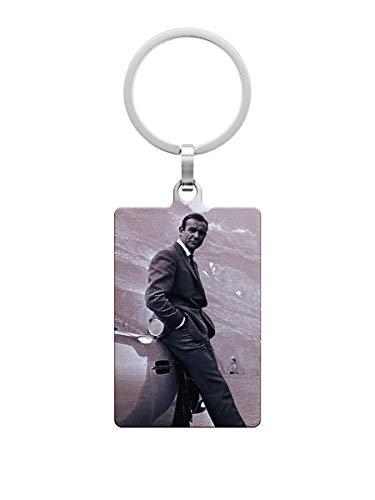 James Bond Portachiavi in Metallo Sean Connery Aston Martin Metal Key FOB 4x6 cm