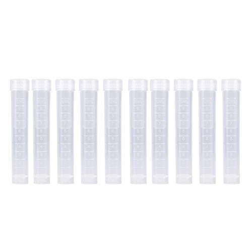 Tubo de ensayo, resistencia a bajas temperaturas, botella de muestra de buena transparencia, recipiente de muestra, 10 piezas para estación de prevención de epidemias de hospitales