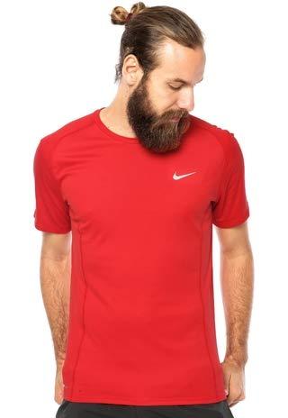 Camiseta Nike Dri-Fit Miler Vermelha 872021-602 (G)
