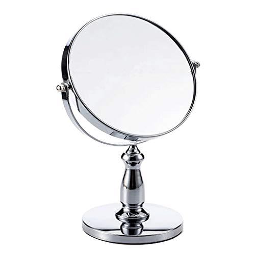 SJYDQ Maquillaje de pedestal independiente de doble cara, espejo de afeitar vista regular - 3 aumentos