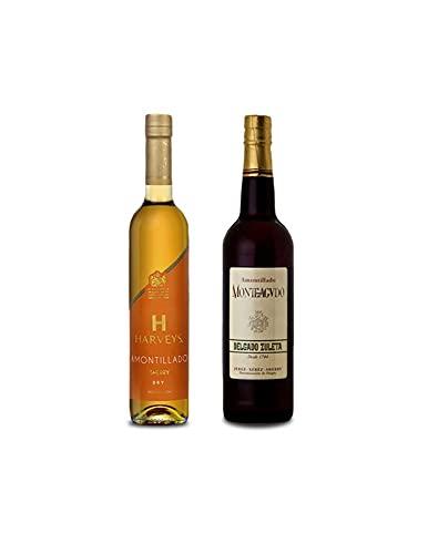 Vino Amontillado Harveys de 50 cl y Vino Amontillado Monteagudo de 75 cl - Mezclanza Exclusiva