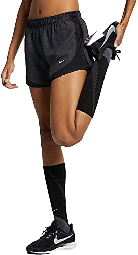 Nike Dry Women's Tempo Dri-Fit Running Shorts (Heather Black/Black, Large)