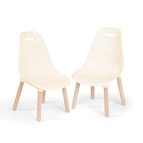 B. spaces by Battat - Kid Century Modern: Chair Set – Trendy Kid-Sized Furniture Set of Two Chairs in Ivory
