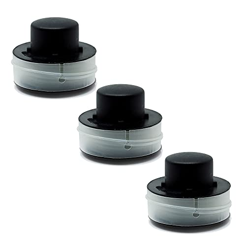 3 Ersatzspulen 3er Pack, Spule, Doppelfadenspule, Rasentrimmer Spule, passend für Matrix Rasentrimmer RT 500-1