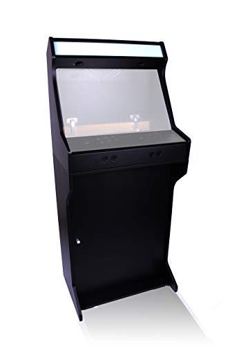 TALENTEC Kit 24' en Madera DM lacada y Pintada en Negro + metacrilato para máquina recreativa Arcade DIY. Orificios de 28mm