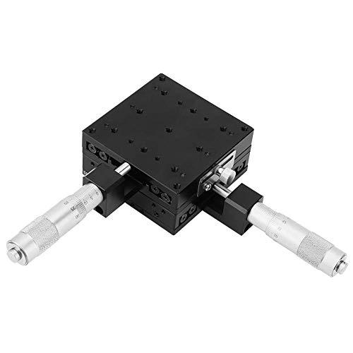 HYY-YY XY-Lineartisch, 80 * 80 * 40mm Pratical Mikrometer Handschiebetisch Trimming...