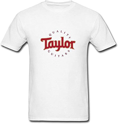 Sun-Tshirt Mens Fashion Taylor Quality Guitars T-Shirts White XXL