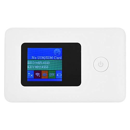 Draagbare mobiele WiFi-hotspot voor op reis, SIM-kaart 4G-modem WiFi-router 2,4 GHz 150 Mbit / s datatransmissie 4G WiFi-router voor telefoon PC-tablet ondersteunt modemfunctie