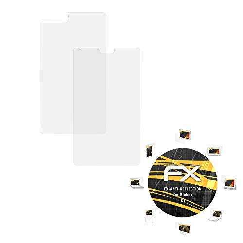 atFolix Panzerfolie kompatibel mit Bluboo S1 Schutzfolie, entspiegelnde & stoßdämpfende FX Folie (3er Set)