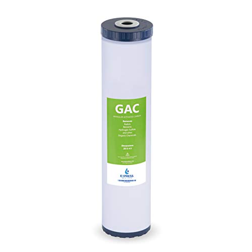 """Express Water – Granular Activated Carbon Replacement Filter – Whole House Replacement Water Filter – GAC High Capacity Water Filter – 5 Micron Water Filter – 4.5"""" x 20"""" inch"""